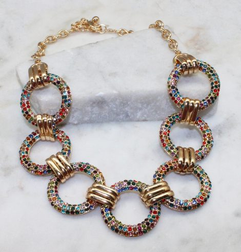 A photo of the Miranda Necklace In Multi-Colored product