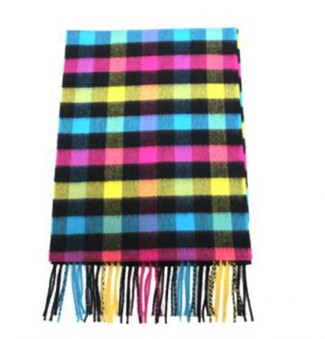 A photo of the Neon Checks Cashmere Feel Scarf product