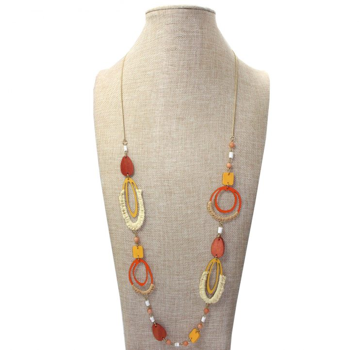 A photo of the Orange You Glad Necklace product