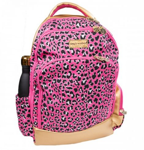 A photo of the Pink Leopard Backpack product