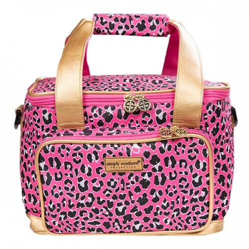 A photo of the Pink Leopard Cooler Bag product
