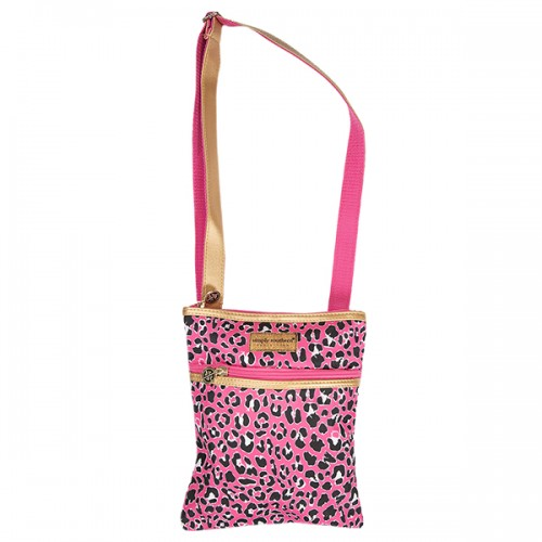 A photo of the Pink Leopard Cross Body Purse product