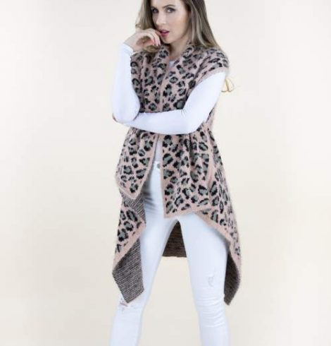 A photo of the Pink Cheetah Vest product