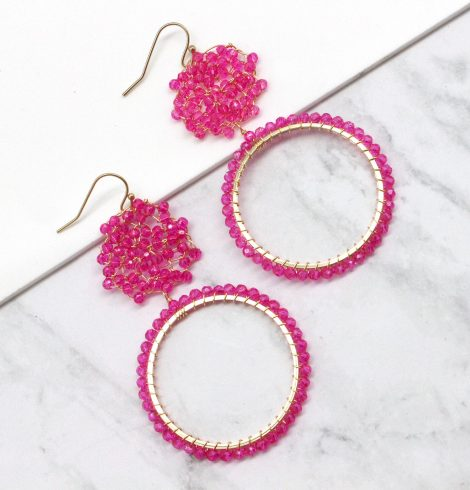 A photo of the Pink Splash Earrings product