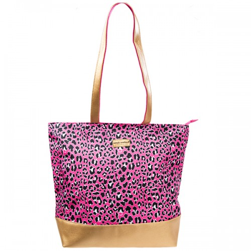 A photo of the Pink Leopard Tote Bag product
