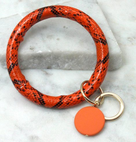 A photo of the Ring Key Chain Orange product