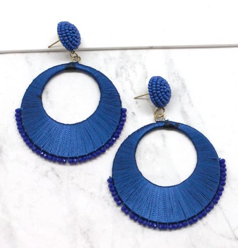 A photo of the Saucer Earrings in Royal Blue product