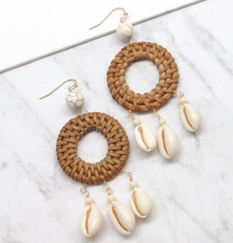 A photo of the Shell Catcher Earrings product