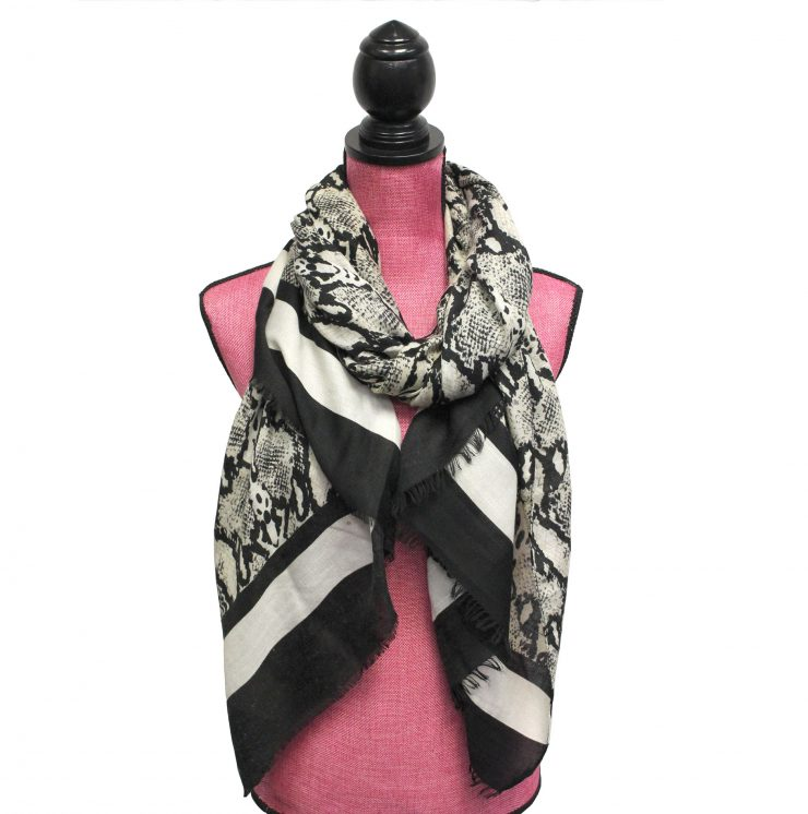 A photo of the Snake Print Scarf product