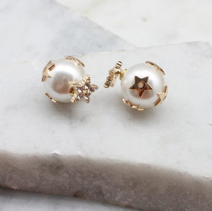 A photo of the Starstruck Peekaboo Earrings In Gold product
