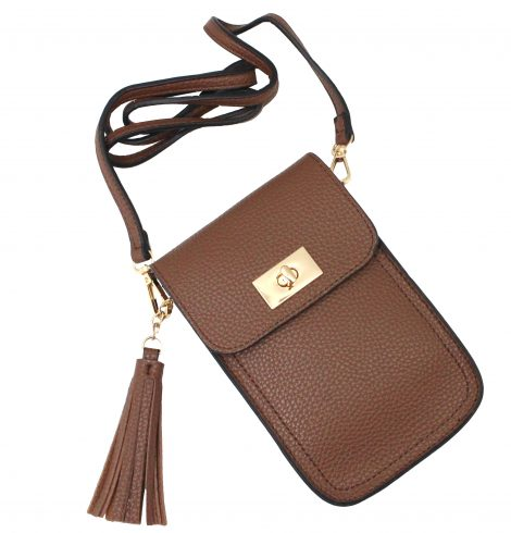 A photo of the Tassel Cross Body Purse in Black product