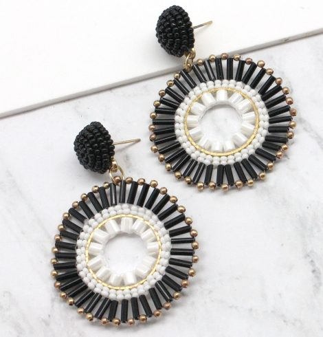 A photo of the Tuxedo Earrings product