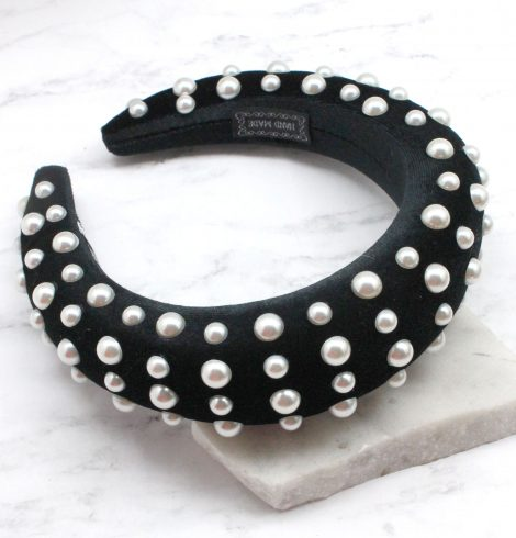 A photo of the Voluminous Headband Studded product