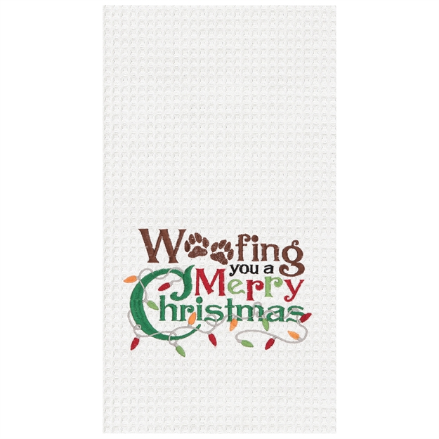 A photo of the Woofing Christmas Towel product