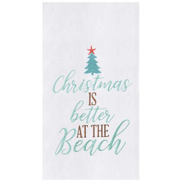 A photo of the Christmas Is Better At The Beach Towel product