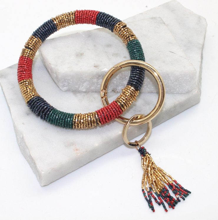 A photo of the Striped Bracelet Key Chain product