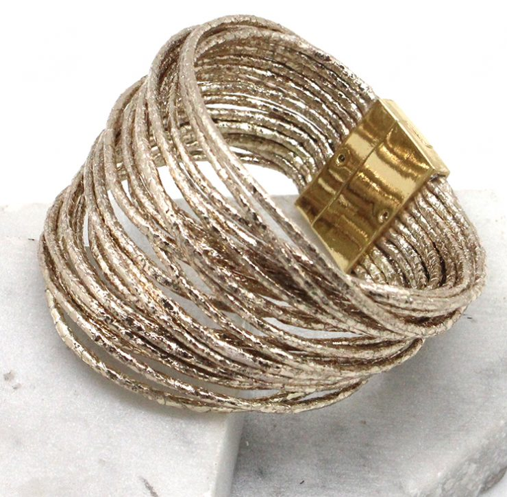 A photo of the Lizzie Bracelet in Silver product