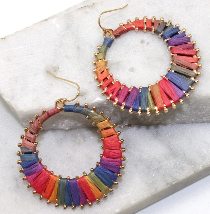A photo of the Right This Way Earrings in Multi Color product