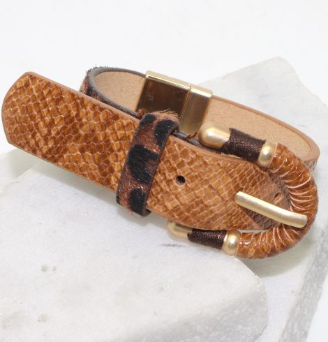 A photo of the Belt Bracelet in Tan product