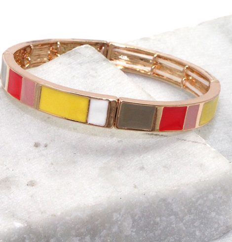A photo of the Color Block Stretchy Bracelet product