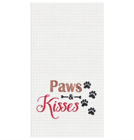 A photo of the Paws & Kisses Kitchen Towel product