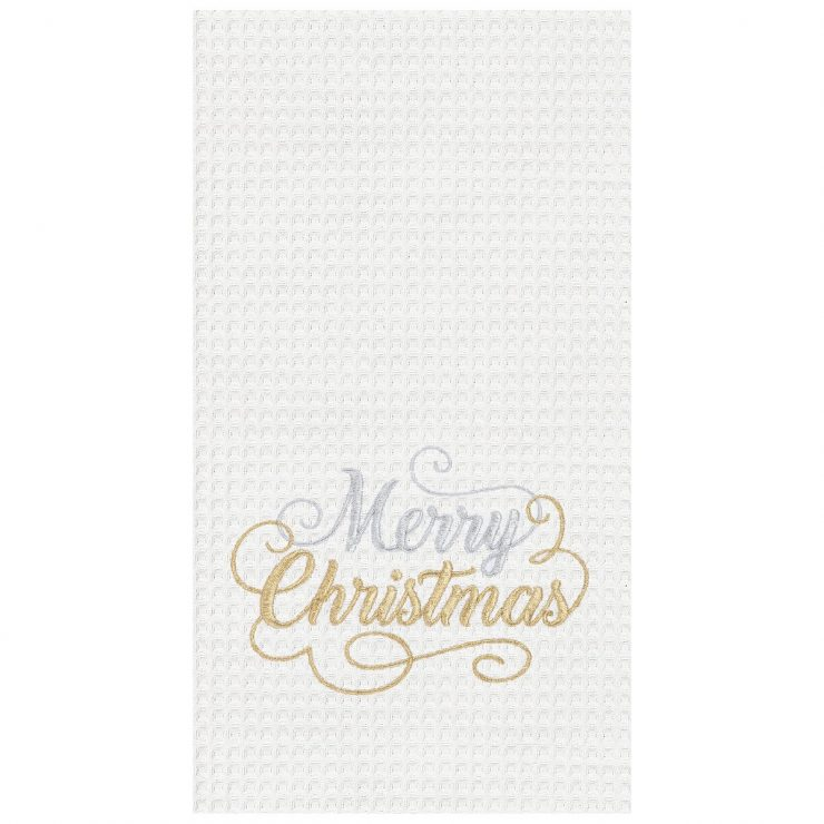A photo of the Merry Christmas Kitchen Towel product