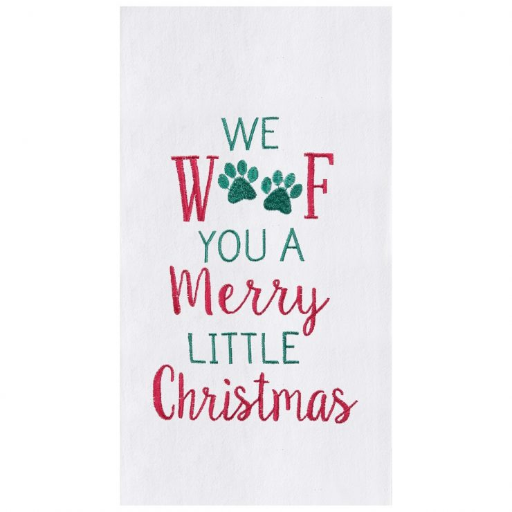 A photo of the Merry Woofmas Kitchen Towel product