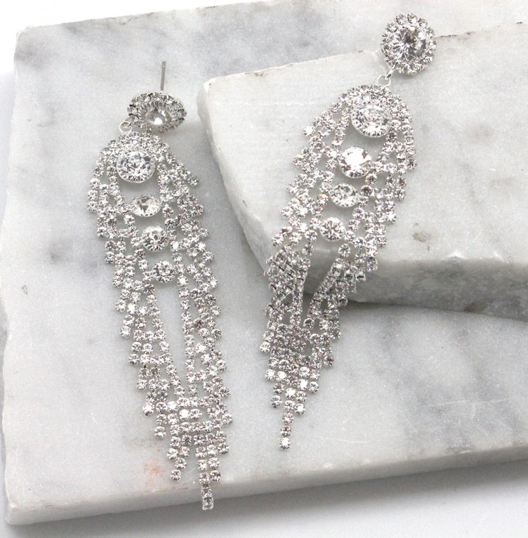 A photo of the Angel Wings Earrings in Silver product