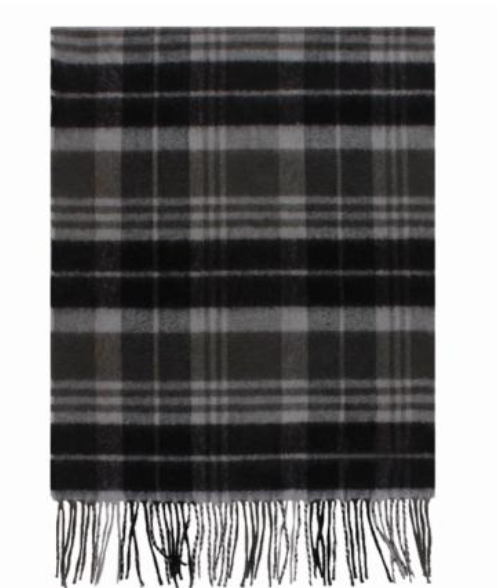A photo of the Black and Grey Plaid Cashmere Feel Scarf product