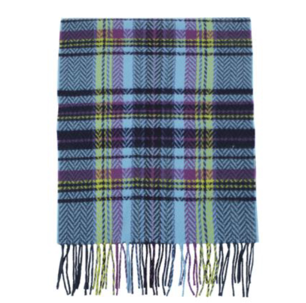 A photo of the Blue Chevron Cashmere Feel Scarf product