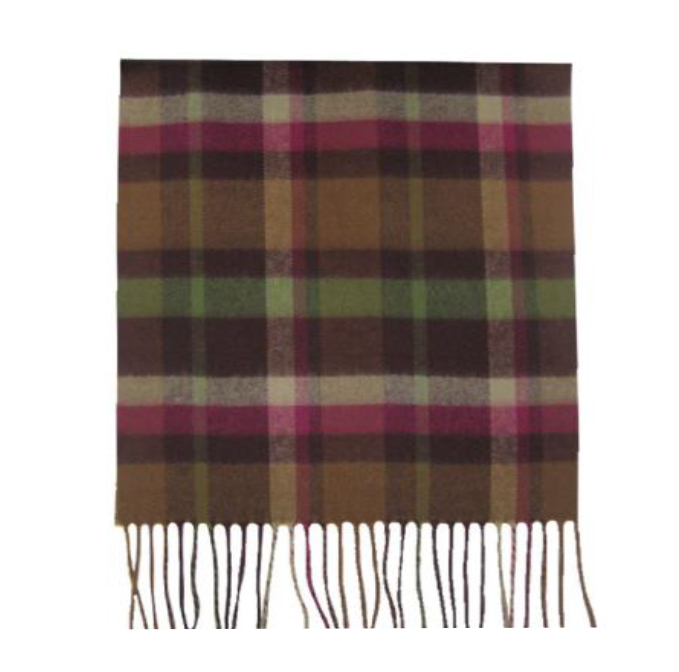 A photo of the Brown Plaid Cashmere Feel Scarf product