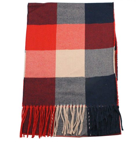 A photo of the Candy Apple Cashmere Feel Scarf product