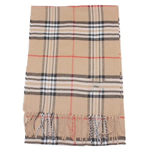 A photo of the Crisp Plaid Cashmere Feel Scarf product