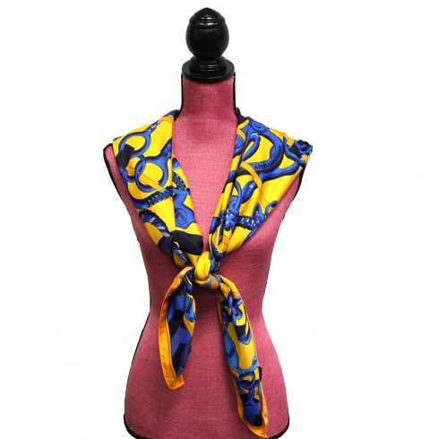 A photo of the Maze Daze Silk-Feel Scarf product