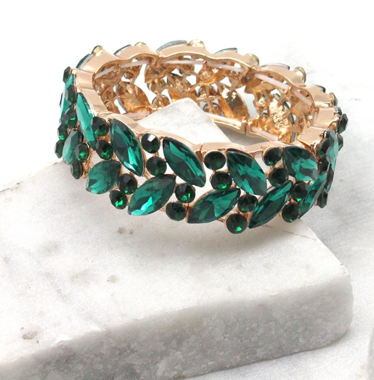 A photo of the Gem of the Night Bracelet in Green product