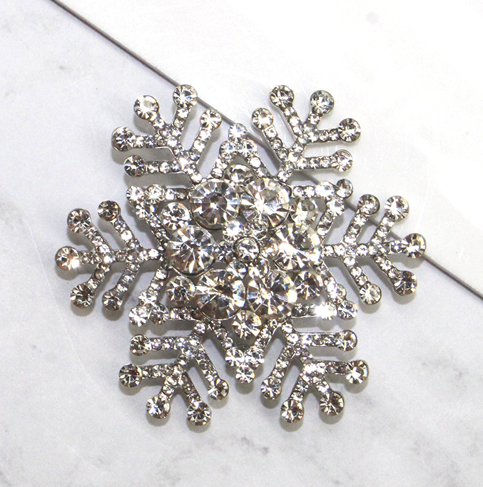 A photo of the Glam Snowflake Pin product