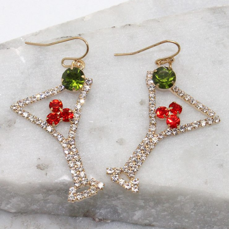 A photo of the Martini Earrings product