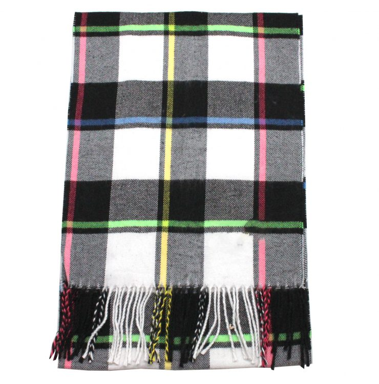 A photo of the Neon Plaid Cashmere Feel Scarf product