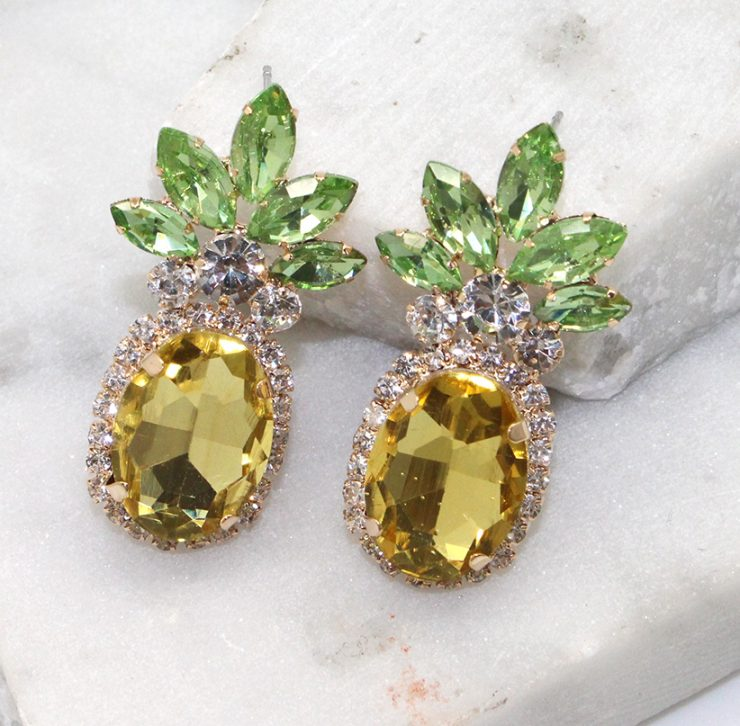 A photo of the Prime Pineapple Earrings product
