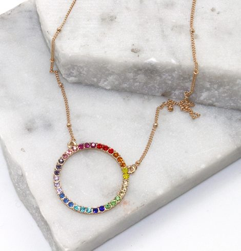 A photo of the Rainbow Eternity Necklace product