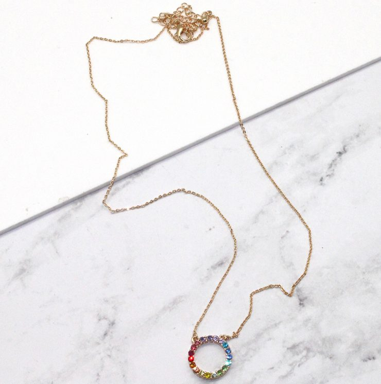 A photo of the Small Rainbow Eternity Necklace product
