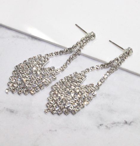 A photo of the Reina Earrings in Silver product