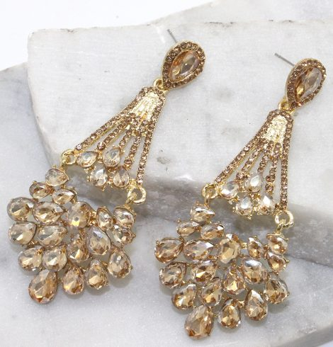 A photo of the Ritzy Earrings in Green product