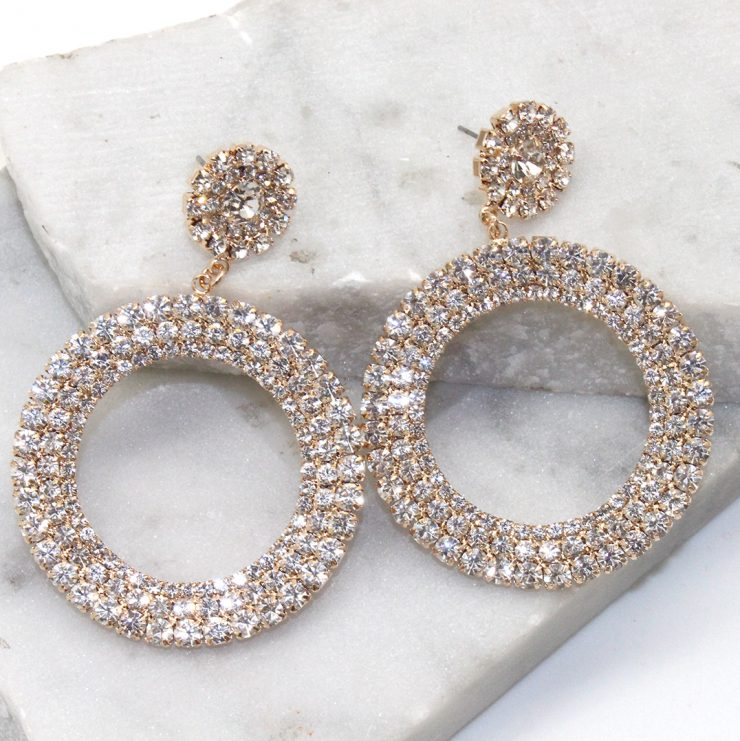 A photo of the Rhythm of the Night Earrings in Silver product