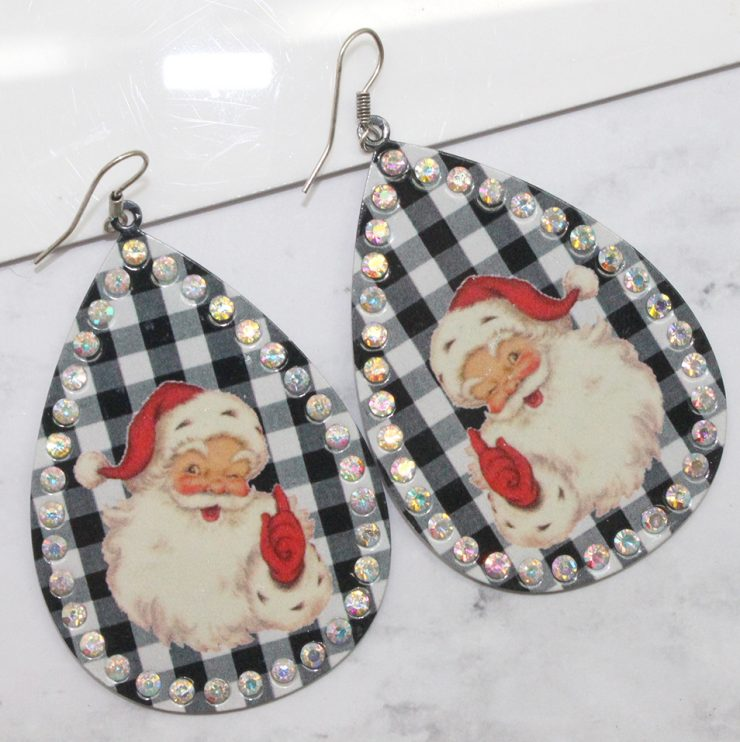 A photo of the Santa Teardrop Earrings product