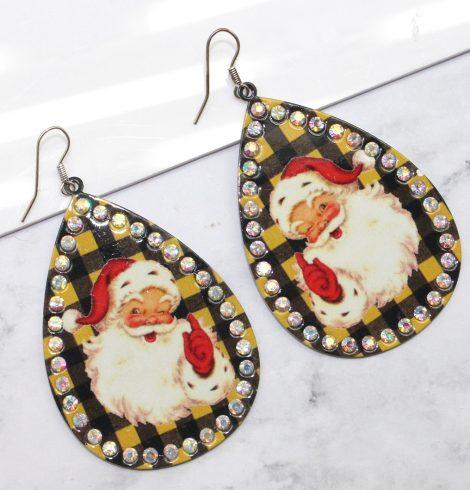 A photo of the Santa Teardrop Earrings product