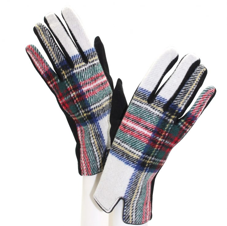 A photo of the White Tartan Gloves product