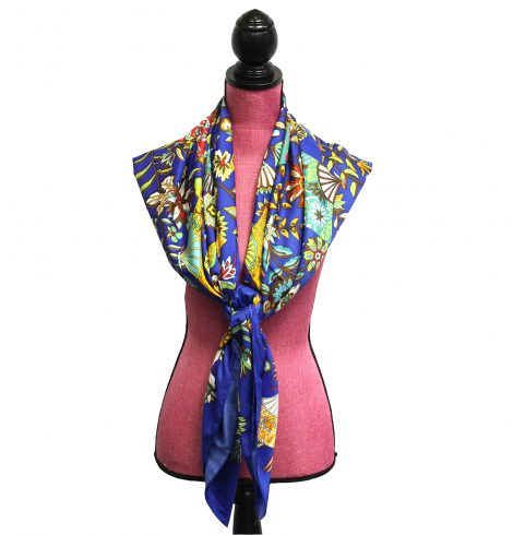 A photo of the Zen Garden Silk-Feel Scarf product