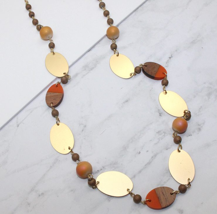 A photo of the Autumn Tones Necklace product