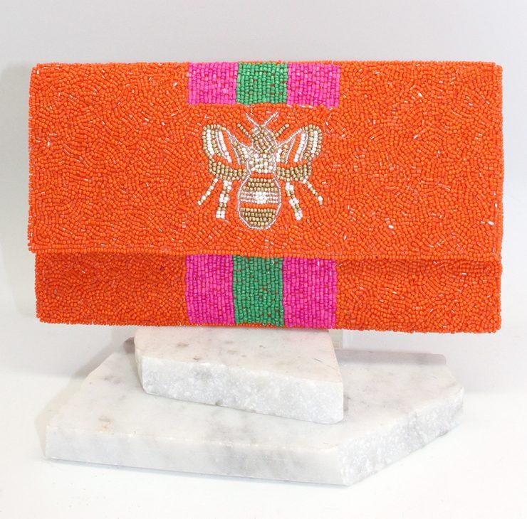A photo of the Beeautiful Bee Handbag in Orange product